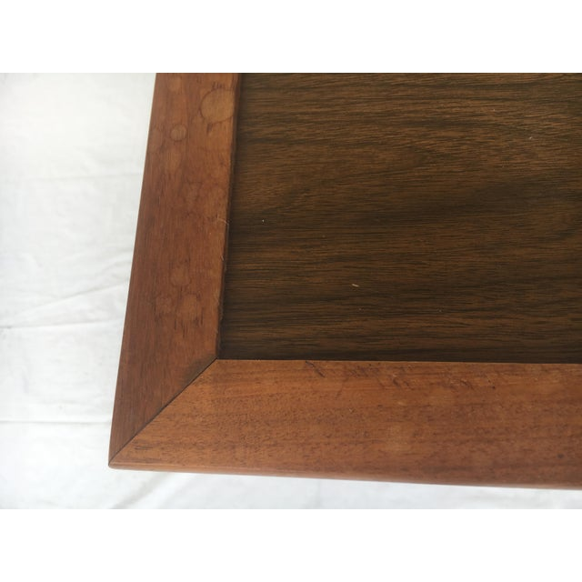 Small Mid-Century Modern Wooden Rolling Tray Table Cart For Sale - Image 11 of 12