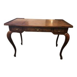 Antique French Walnut Wood Secretary Desk With High Legs