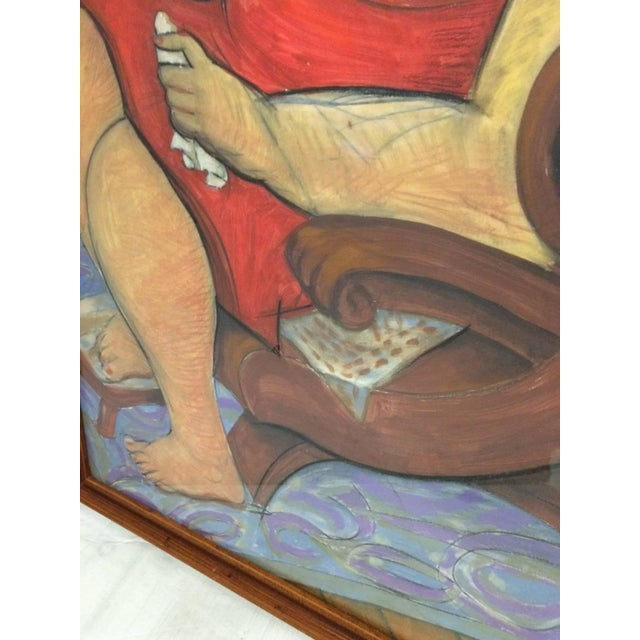 Pastel and Gouache Drawing by Frank Guttierrez - Image 2 of 4