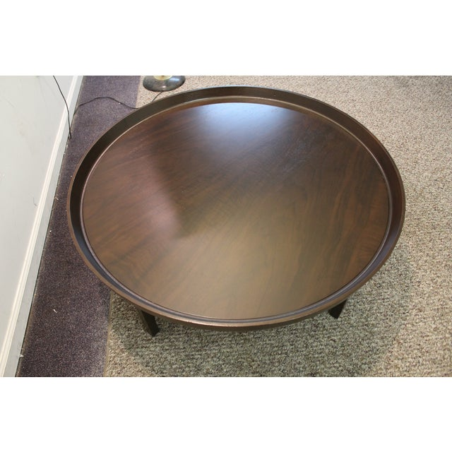 Mid-Century Modern Baker Round Flared Coffee Table - Image 5 of 11