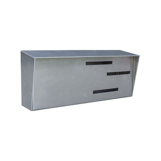 Modern Monochromatic Stainless Mailbox For Sale