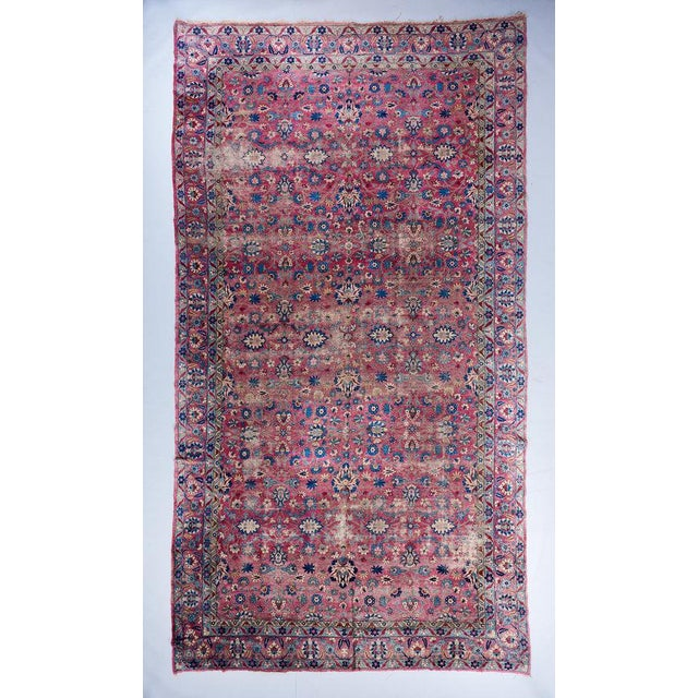 Oversized Magenta Ground Khorasan Carpet For Sale In Los Angeles - Image 6 of 6