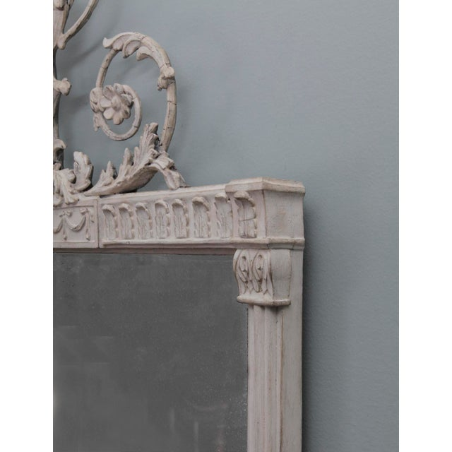 19th Century Antique English Neoclassical Scroll Motif Mirror For Sale - Image 5 of 10