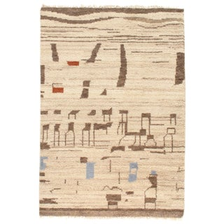 Pasargad Ny Moroccan Hand-Knotted Rug - 4′ × 6′ For Sale