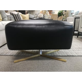 Modern Lexington Polished Acrylic Bleecker Leather Bed Ottoman Preview
