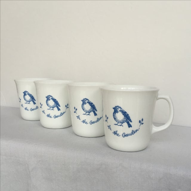 Vintage Blue & White Coffee Cups - Set of 4 - Image 11 of 11