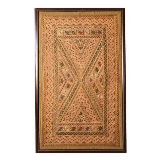 Vintage Moroccan Style Framed Textile For Sale