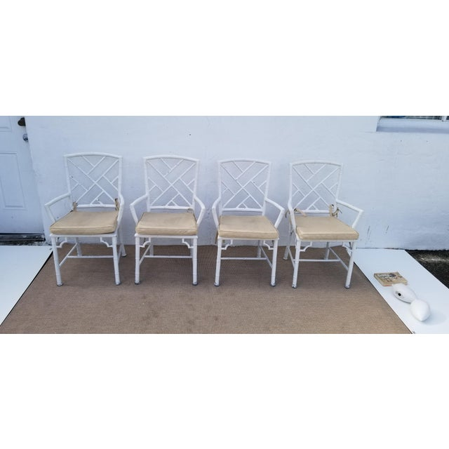 It is designed with a beautiful Faux Bamboo cross work pattern with Faux Cane metal on the seats. Perfect for indoor or...