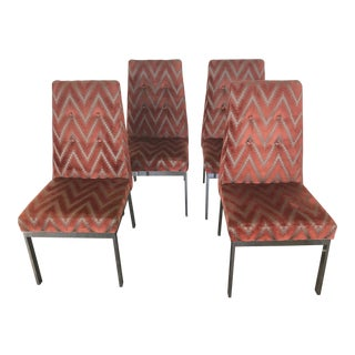 Set of 4 Dining Chairs in the Manner of Milo Baughman