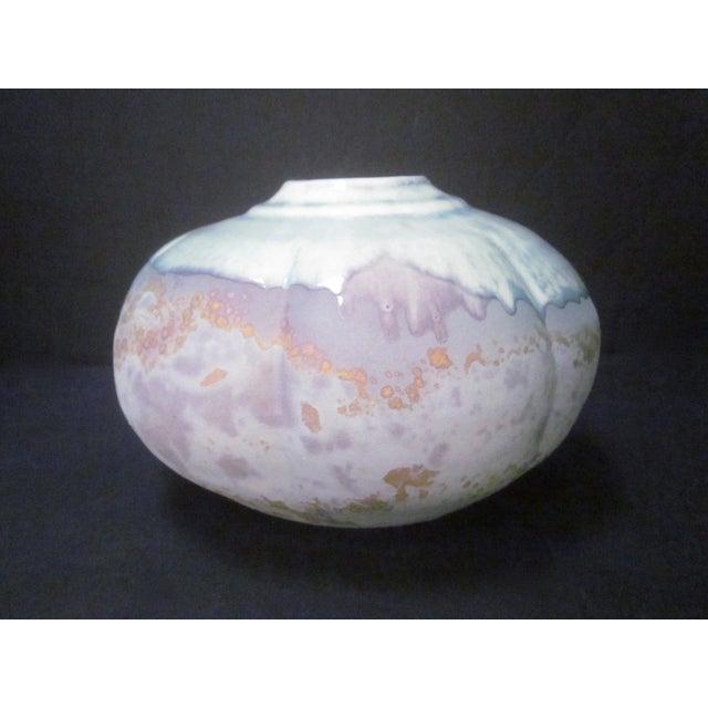 Lucite Sculpture Ceramic Raku Pottery Tony Evans - Image 5 of 11