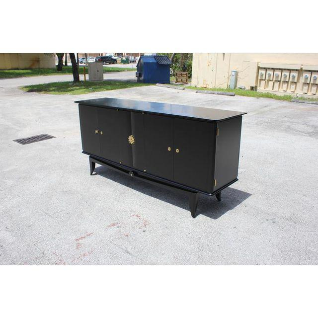 Beautiful Vintage French Art Deco Ebonized Sideboard / Buffet 1940s - Image 10 of 11