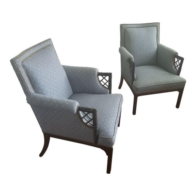 Lee Jofa Upholstered Armchairs - a Pair For Sale