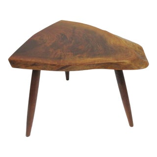 1983 Mira Nakashima Tripod Walnut Table For Sale