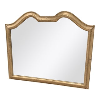 Traditional Gold Painted Wood Framed Wall Mirror For Sale