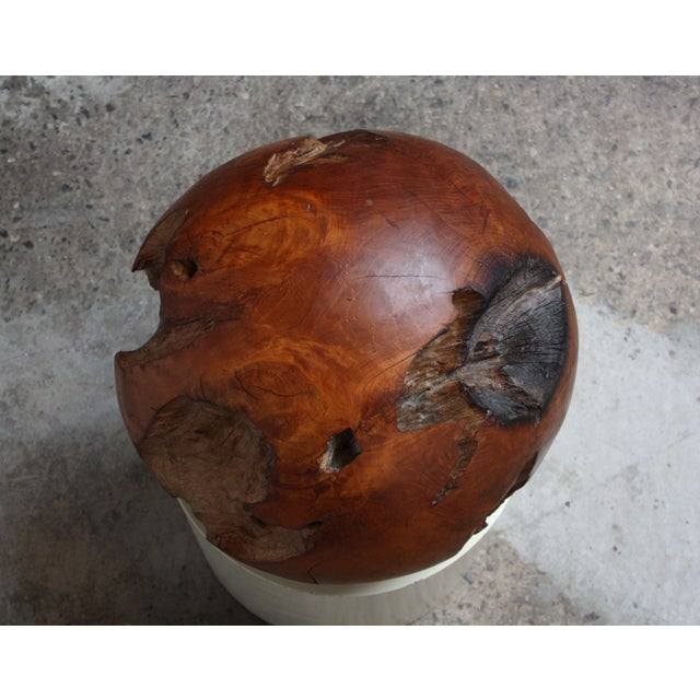 1960s Midcentury Redwood Burl Sphere Sculpture For Sale - Image 5 of 13