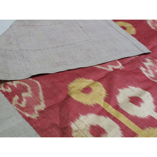 Antique Silk Ikat Panel For Sale In New York - Image 6 of 7