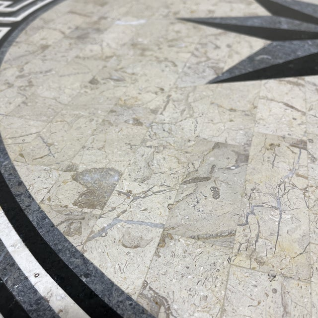 Tessellated Stone Top Greek Key Entryway Game Table For Sale In Richmond - Image 6 of 12