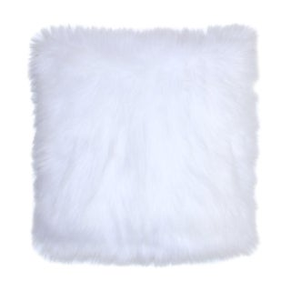 Arctic Fox White Faux Fur Pillow Covers 18 X 18 - Set of 2 For Sale