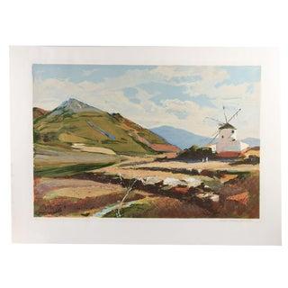 Everett Raymond Kinstler Portuguese Landscape Serigraph