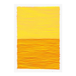 Contemporary Orange & Yellow Geometric Painting For Sale