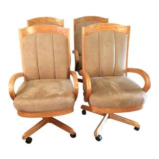 Modern Douglas Swivel Tilt Caster Dining Chairs - Set of 4 For Sale