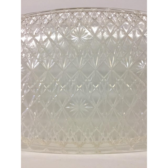 Large Vintage Clear Carved Lucite Serving Tray For Sale - Image 10 of 13