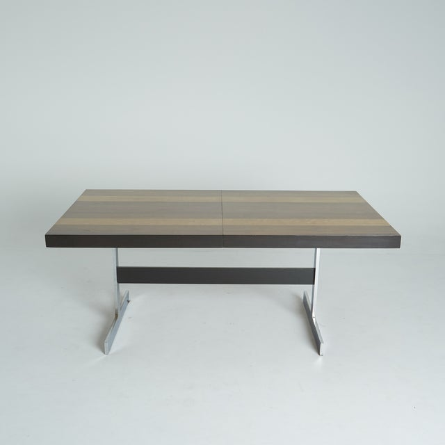 Expandable Mixed Wood Milo Baughman Dining Table - Image 2 of 7