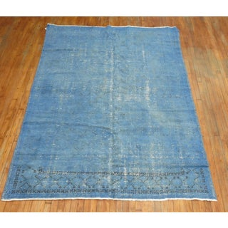 Vintage Turkish Blue Over-Dyed Rug - 6'7'' X 9'1'' Preview