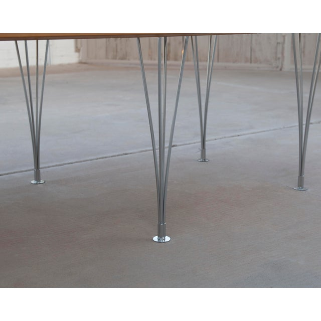 Brown Danish Modern Bruno Mathsson Conference or Dining Table For Sale - Image 8 of 12
