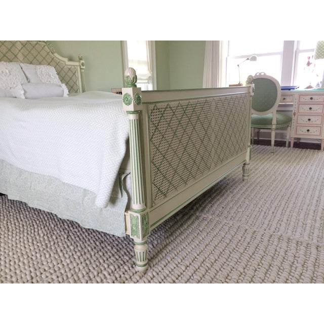 Julia Gray Queen Cane Bed For Sale - Image 4 of 7