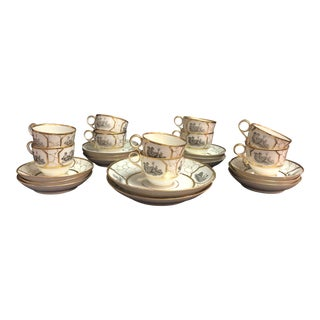 18th Century Barr Flight and Barr Worcester Teacup and Saucer Sets - 24 Pieces For Sale