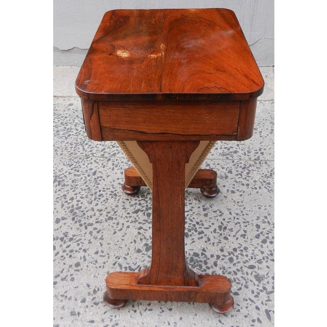 19th Century Antique English Rosewood Regency Basket Sewing Table For Sale - Image 5 of 11