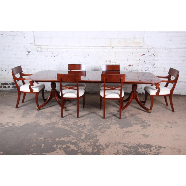 Baker Furniture Historic Charleston Georgian Banded Inlaid Mahogany Dining Set For Sale - Image 13 of 13