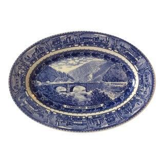 Blue and White Railroad Commemorative Plate For Sale