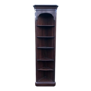 Ethan Allen Georgian Court Cherry Corner Bookshelf For Sale