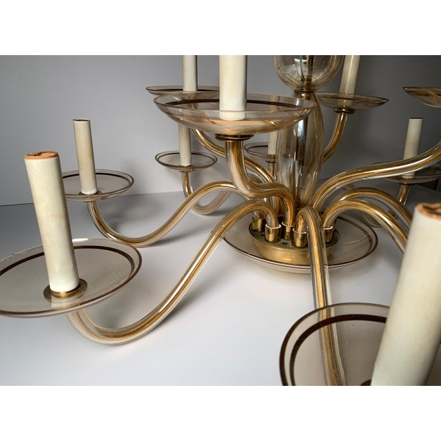 Mid 20th Century Vintage Bohemian Crystal Murano Chandelier For Sale - Image 5 of 10