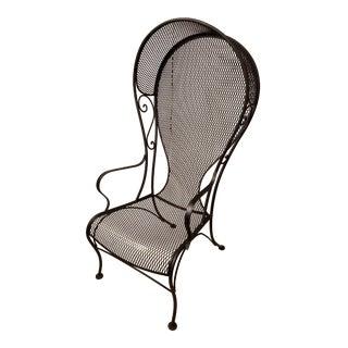 Rare Mid-Century Salterini Style Iron Balloon Back Porter Garden Chair