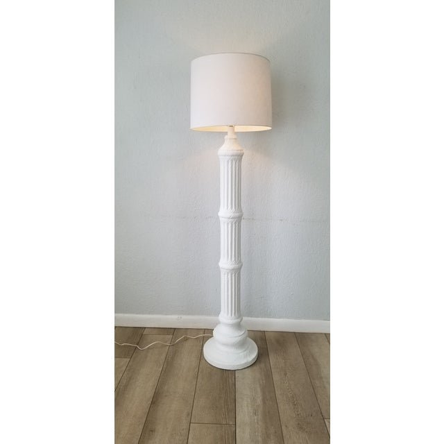 Offered for sale this fantastic Vintage / Hollywood Regency Sculptural Column Shape Decorative Floor Lamp . Bruch Painted...