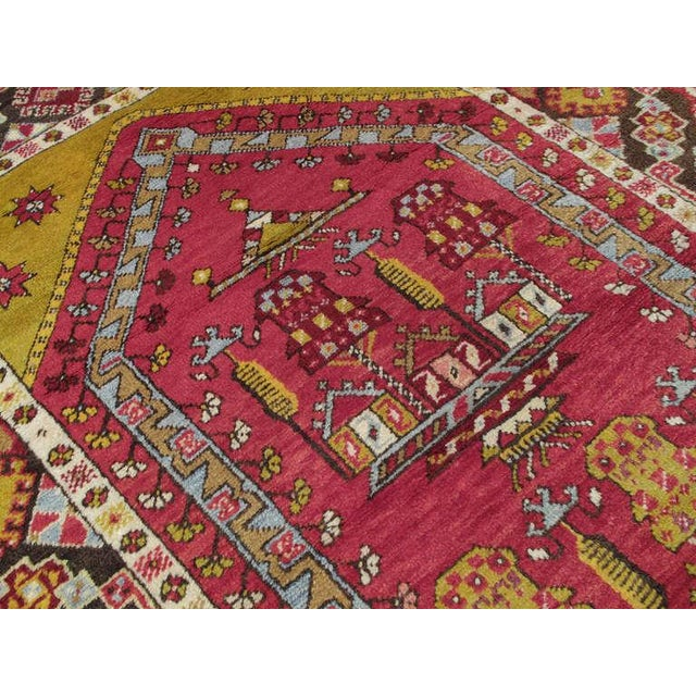 Antique Kirsehir Prayer Rug For Sale - Image 4 of 6