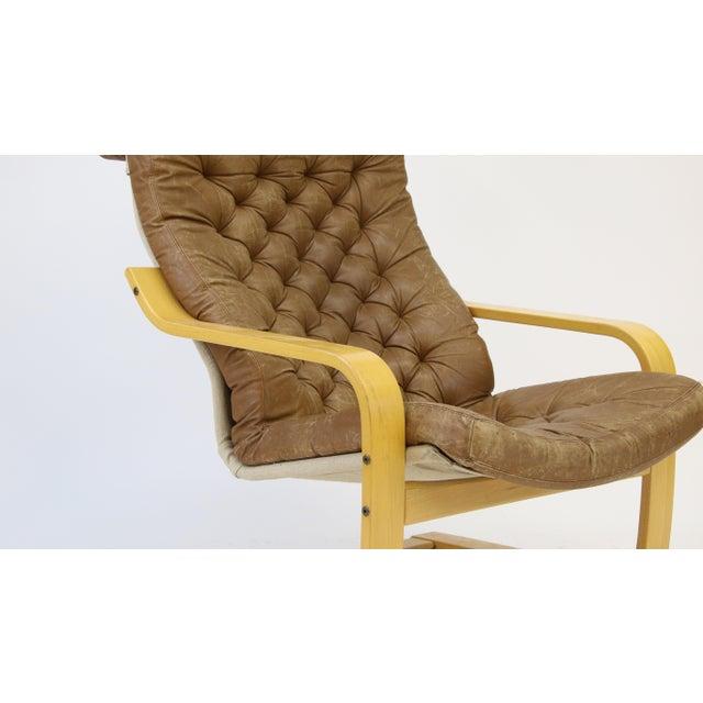 Animal Skin 1970s Original Noburu Nakamura for Ikea Poem Chair For Sale - Image 7 of 9
