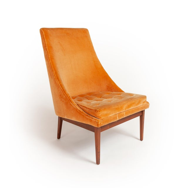 "Rare matching set of original Lawrence Peabody ""Slipper Chair"" model K120. A beautiful classic mid-century design made in..."
