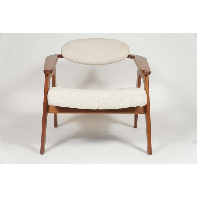 1960s Adrian Pearsall Lounge Captain's Chair for Craft Associates Model 916-CC in Walnut For Sale - Image 5 of 10