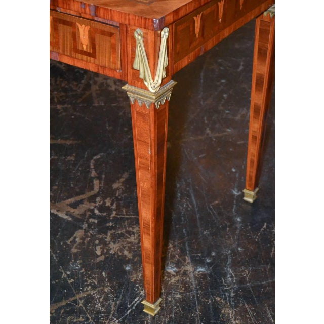 French French Transitional Parquetry Inlaid Desk For Sale - Image 3 of 10