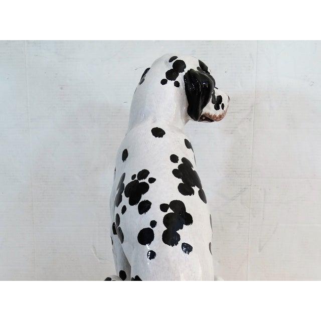 Mid-Century Modern Italian Dalmatian Dog Statue For Sale - Image 4 of 8