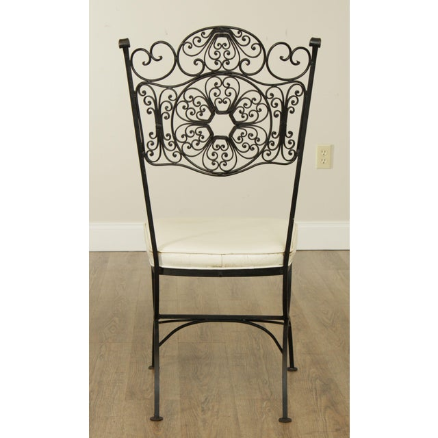 Woodard Andalusian Black Wrought Iron, Dining Chairs - Set ...