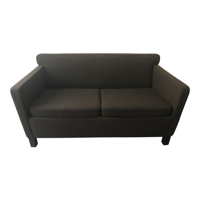 knoll krefeld pumpernickel settee chairish. Black Bedroom Furniture Sets. Home Design Ideas