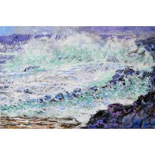 Simon Michael Rocky Coast Painting For Sale
