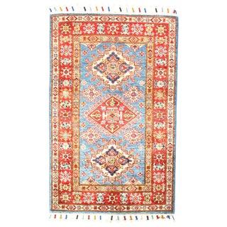 """Pasargad N Y Super Kazak Lamb's Wool Rug - 2'9"""" X 4'2"""" For Sale"""