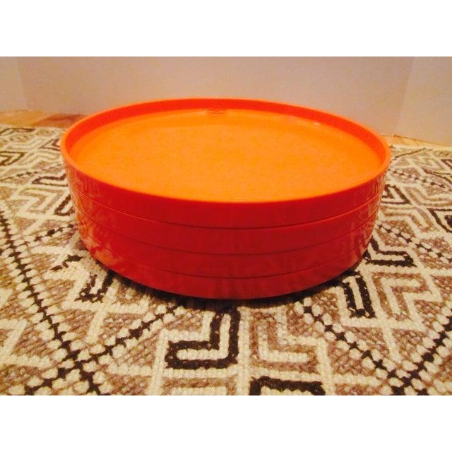 Heller Vignelli Stacking Orange Plate Bowl 30 Pcs - Image 5 of 11