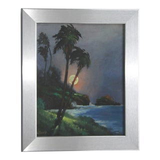 Tropical Palm Tree Oil Painting by Bumo For Sale